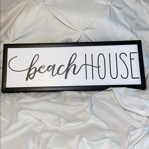 Hobby Lobby Accents - Beach House Sign New Unused